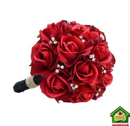 喜结良缘 19朵红玫瑰,搭配精美装饰品