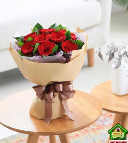 一心一意--玫瑰11枝,粉色勿