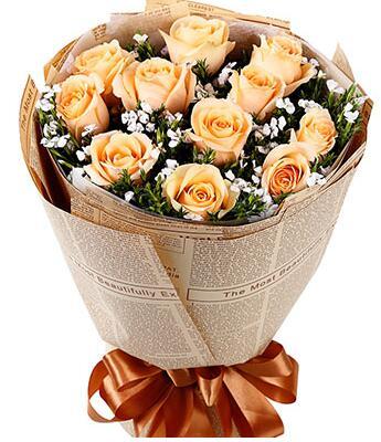 爱的告白 11朵香槟玫瑰