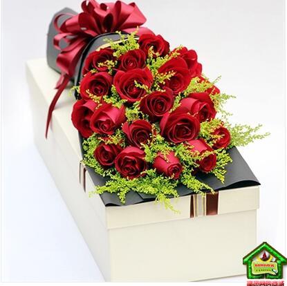 爱你如初 19枝红玫瑰 礼盒