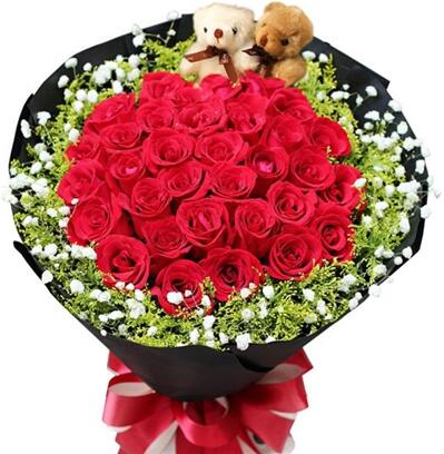 天天祝福 33朵红玫瑰花