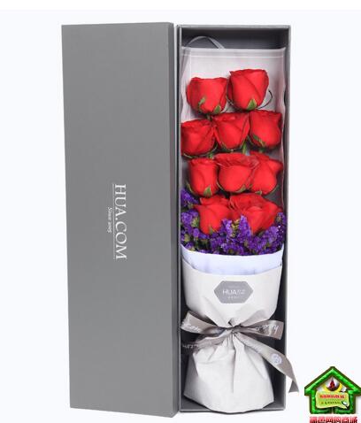 约定今生 精品玫瑰礼盒,红玫瑰11枝,勿忘我适量